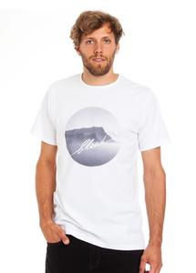 Mountain photo tee white - bleed
