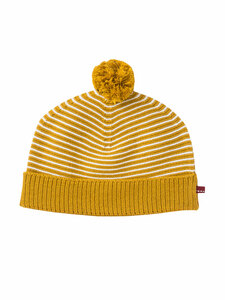 Baby Strick Bommel-Mütze reine Bio-Baumwolle - People Wear Organic