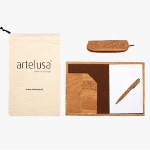 Kork Schreibwaren Set – artelusa - Geschenkset aus Kork - Artelusa