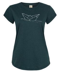 Paperboat Papierschiff Organic Women Shirt _ teal / ILK02 - ilovemixtapes