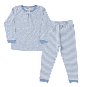 Mädchen Schlafanzug hellblau 100% kbA Baumwolle People Wear Organic - People Wear Organic