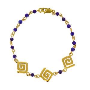 Armband ETENIA, 925er Silber, vergoldet - GLOBO Fair Trade