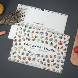 101 Sorten Saisonkalender Obst & Gemüse in Farbe - Kupferstecher.Art