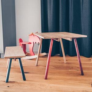 Kindertisch-Set aus Holz PIEPMATZ - wunderschöner Spieltisch für Kinder - Herr Lars Möbelmanufaktur