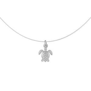 Kette Silber kleine Schildkröte minimalistisch handmade Fair-Trade - pakilia