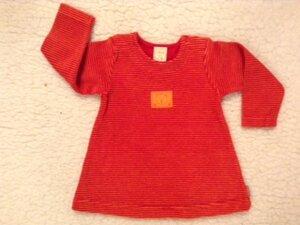 Baby Frottee Kleid rot-orange gestreift - Lana naturalwear