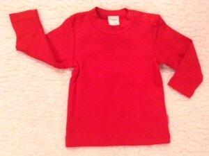 Baby Langarmshirt Rot - Lana naturalwear