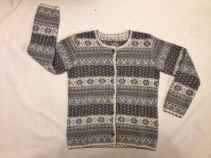 Jaquard-Strickjacke Finja grau/natur - Lana naturalwear