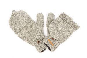Schurwollhandschuhe, handgestrickt - short'n'pietz