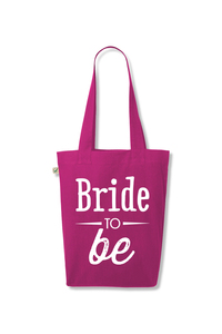 'Bride to be' ORGANIC Jutetasche - What about Tee
