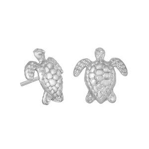 Ohrringe Silber Schildkröten Ohrstecker minimalistisch fein Fair-Trade - pakilia