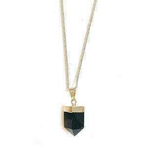 Rauchquarz Halskette geschliffen von Crystal and Sage - Crystal and Sage