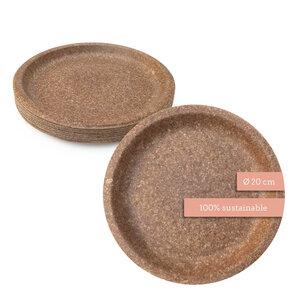 Essbare Teller - Nachhaltige Einwegteller - Weizenkleie Partyteller ⌀20cm - Wisefood