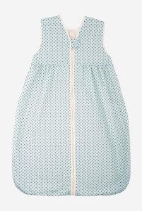 Bio Schlafsack Plüsch ohne Ärmel mit Punkten - Lana naturalwear