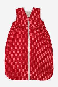 Bio Baby Ganzjahresschlafsack mit Plüschfutter ohne Ärmel mit Punkten - Lana naturalwear