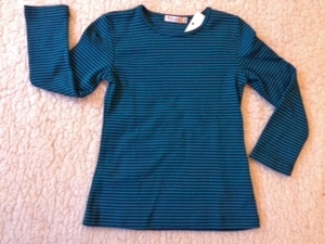 Langarmshirt Anna dark slate-lapis - Lana naturalwear