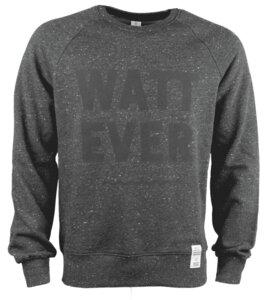WATT EVER, Sweatshirt, unisex, dunkelgrau meliert mit Aufdruck - Waterkoog