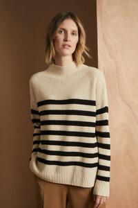Boxy-Pullover mit Streifen aus Yak und Merinowolle - LANIUS