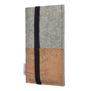 Handyhülle SINTRA natur für Apple iPhone - 100 % Wollfilz - hellgrau - Filz Schutz Tasche - flat.design