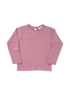 Kinder Langarmshirt rosa Rippoptik Bio-Baumwolle - People Wear Organic