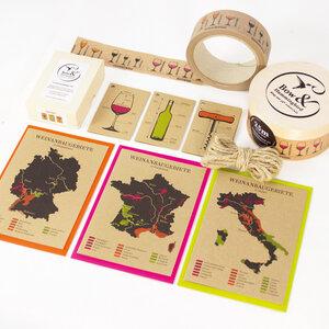Wein Geschenkverpackungs-Set I - Bow & Hummingbird