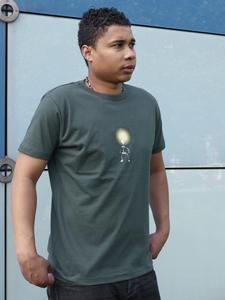 Sparbirne grün-grau Boy-T-Shirt - T-Shirtladen-Marktstrasse GmbH