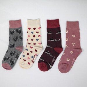 4er Set Kinder Socken - Kitty Kids Sock Box - Thought