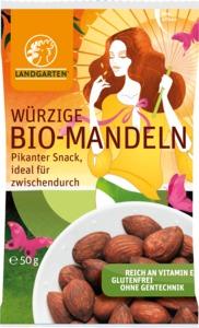 Vegane Bio Mandeln 50g - Landgarten