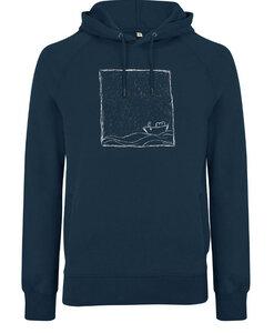 Rough Sea UNISEX Hoodie Denim Blue Fair Wear, Bio und Vegan. - ilovemixtapes