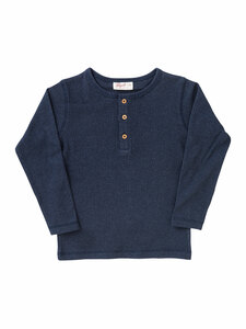 Kinder Henley-Shirt Rippoptik Bio-Baumwolle - People Wear Organic