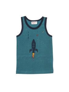 Jungen Unterhemd Rakete reine Bio-Baumwolle - People Wear Organic