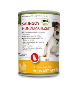 Bio-Hundefutter: Huhn mit Apfel, Kürbis und Zucchini 400g (DE-ÖKO-007)  - SALINGO
