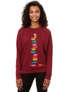FellHerz Damen Sweater Books Girl Bio Fair - FellHerz