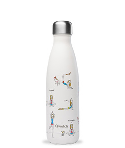Isolierte Trinkflasche 500 ml - Yoga - Qwetch