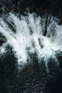 Black and White Water Cascade - Poster von Studio Na.hili - Photocircle