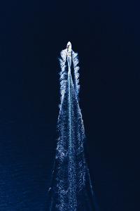 Boat Trip Through Blue - Poster von Studio Na.hili - Photocircle