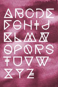 Geometrical ABC - Peach Aquarelle - Poster von Studio Na.hili - Photocircle