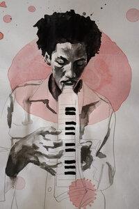 Augustus Pablo - Poster von David Diehl - Photocircle