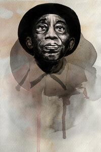 Mississipi John Hurt - Poster von David Diehl - Photocircle