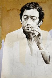 Serge Gainsbourg - Poster von David Diehl - Photocircle