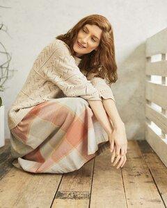 Rock - Alexa Full Check Skirt - aus Bio-Baumwolle - Thought