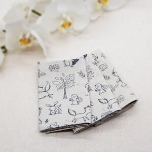 3 handgenähte Kinder-Taschentücher inkl. Beutel - Bio-Baumwolle - OrganicMom®