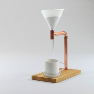 Kaffeebereiter (Pour Over Coffee Maker Lean, Kaffeemaschine) - Holzköpfchen