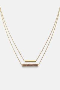 Halskette mit Holzelement 'RECTANGLE NECKLACE' - Kerbholz