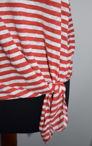 Kristie Stripe Linen Top - People Tree