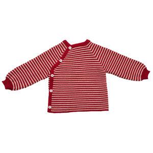 Baby und Kinder Ringel-Pullover reine Bio-Merinowolle - Reiff