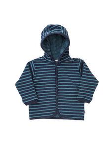 Baby Wendejacke blau geringelt Bio Baumwolle - People Wear Organic