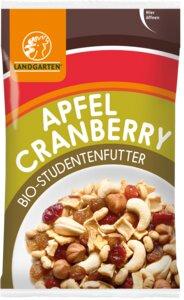 Bio-Studentenfutter Apfel-Cranberry 50g - Landgarten