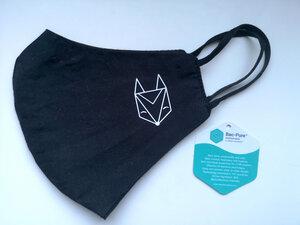 Behelfs–Mund–Nasen Maske schwarz - Róka - fair clothing