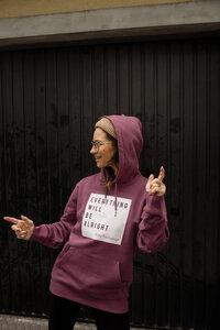 "Kapuzen Sweater, Hoodie ""Everything..."" - ALMA -Faire Streetwear & Schmuck-"